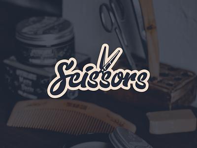 Scissors typography illustrator illustration graphic design design scissors logo concept logo design logo