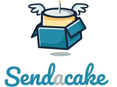 Send a cake - Logo design visual design visual lettering vector art vector graphic design design color logo design logo cake