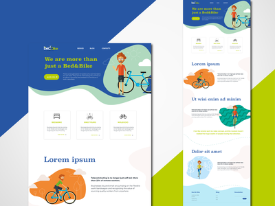 B&B(ike) website bycicle bike graphicdesign uidesign webdesign ui ux web
