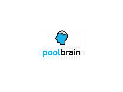 PoolBrain pool logo grid visual design visual art graphic  design logodesign logo brainpool