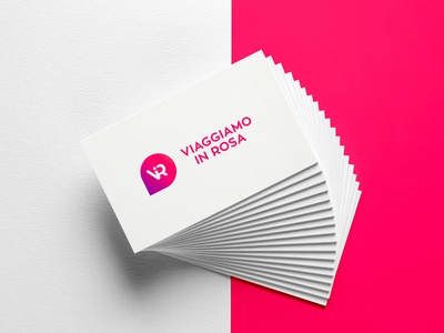 Viaggiamo in rosa - logo design gradient visual design vir monogram monogram mockup business cards design graphic  design design logo design business cards logo