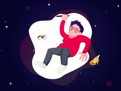 That's me! universe space illustrator graphic designer web designer design designer illustration