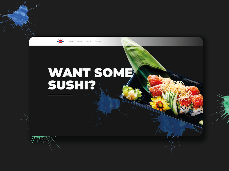 Sushi Station website. web design ui design web designer sushi ux design ux  ui web website