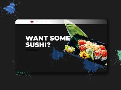 Sushi Station website. web design ui design web designer sushi ux design ux  ui web website