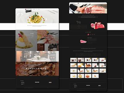 Bricco e Bacco | Restaurant website restaurant website restaurant butcher website meat shop web 2.0 uxdesign uidesign website web
