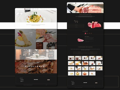 Bricco e Bacco | Restaurant website restaurant website restaurant butcher website meat shop web 2.0 uxdesign uidesign website web