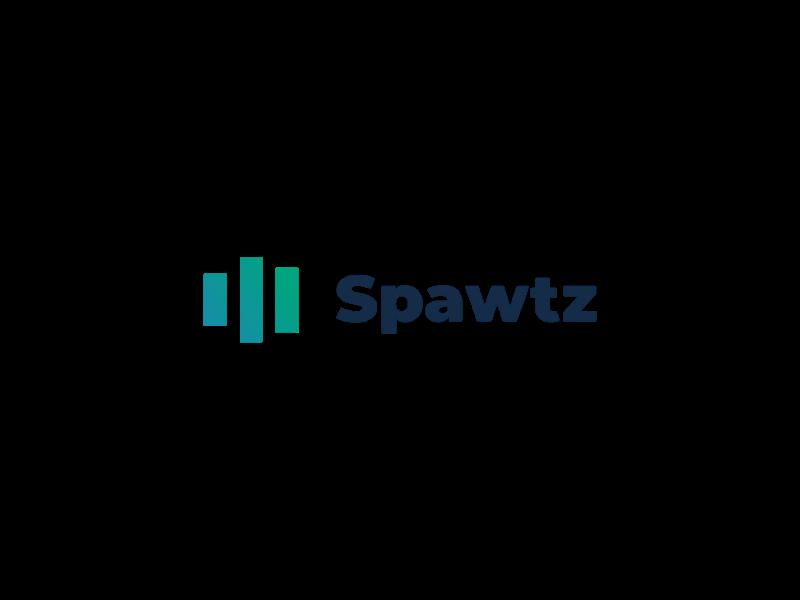 Spawtz logo gradient graphicdesign minimal stats logodesign logo