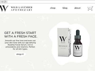 Wild Lavender Apothecary Web Design ui deisgn user interface design logo website ui  ux design web design