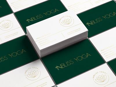 InBliss Yoga Business Cards business card mockup yoga logo branding business card design