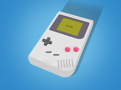 Gameboy illustrator vector game boy flat blue illustration gameboy
