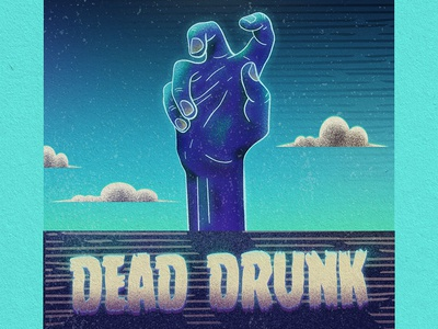 Dead Drunk Close-up gritty zombie beer label design beer label beer branding beer design illustrator illustration