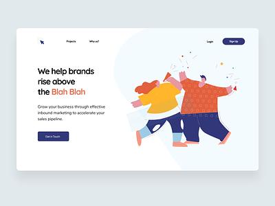 Landing page : : Marketing Agency agency marketing ui landing page minimal design illustration clean