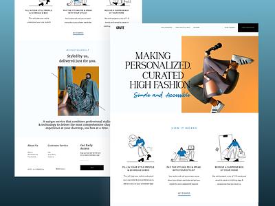 Fashion Subscription Box Website landingpage modern fashion landing page website 3d illustration cocept clean minimal