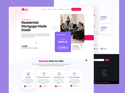 Landing Page Design website landing page clean illustration ui app design minimal