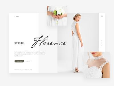 Wedding Fashion Shop Concept woman flowers white pwa fashion wedding concept ux ui app web shop