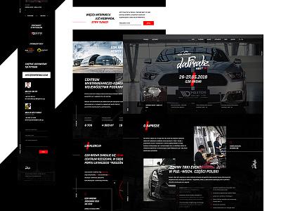 DaFreakz Meet'18 🚘 web ux ui black red promo page landing event cars