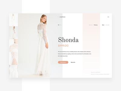 Wedding Fashion Shop Concept woman white wedding web ux ui shop pwa flowers fashion concept app
