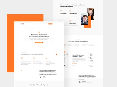 PGS Landing Page software pgs it white orange brand clean ux ui web page landing
