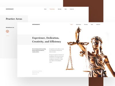 Law Firm typography simple clean lawyer firm law ux ui web