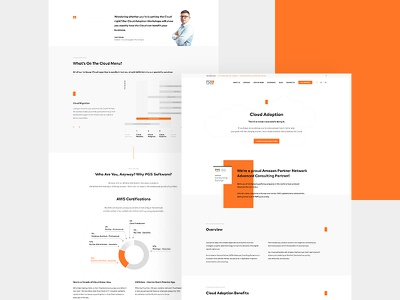 PGS Landing Page white web ux ui software pgs page orange landing it clean brand