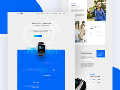 NexCare - landing page ux ui clean design product band care health page landing