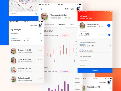 NexCare - mobile app ux ui product mobile ios health care band application app android