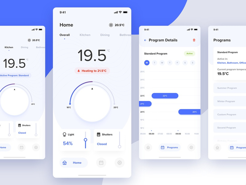 Smart Home - Concept app ios blue mobile product design white ux clean ui