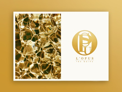 L'Opus graphique graphic graphisme design luxury spa logotype logo