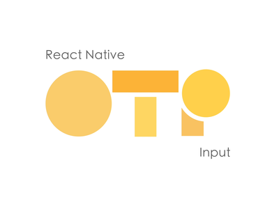 React Native OTP Input flat branding mobile technology motion design minimal after effects design animation logo