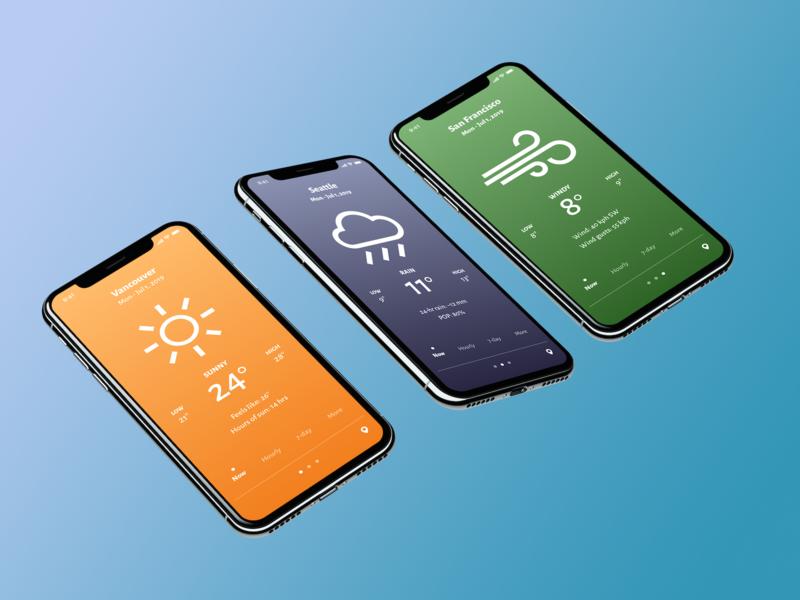 Weather App weather ios design app mobile ux ui