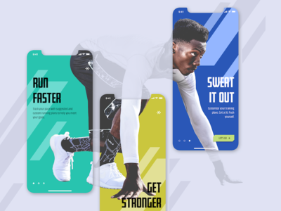 Workout App Onboarding interface color sports sketch simple concept ios app mobile design ux ui