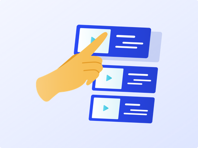 Usability Testing & Research Illustration eps png simple minimal ui ux cursor flat 3d adobe illustrator play video click hand figma app svg vector 2d animation icon isometric clean design mobile mockup undonedsgn blue gradient user interface motion