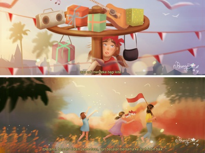 Indonesia Independence Day 2019 art direction artwork independence indonesia lighting color mood color grading cinematic painting illustration digital painting digital art concept art character