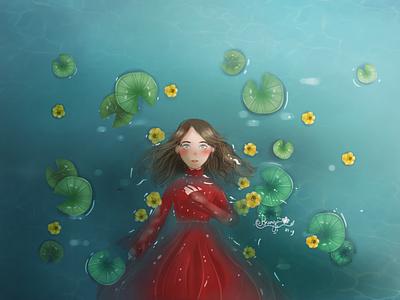 Underwater design art illustration art background underwater digital art art direction color mood color grading painting illustration digital painting concept art character