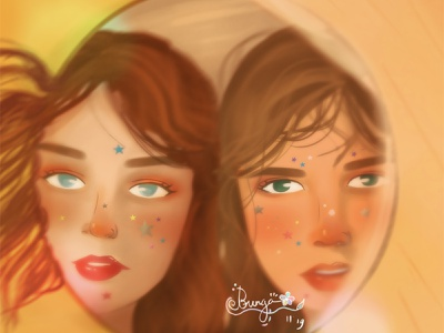 Potrait Anxiety - More Self Reflection artwork art color mood art direction painting character illustration digital painting digital art concept art