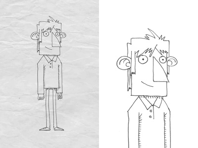 Character sketch 4 paper pencil guy fast sketch character design 2d character design illustration
