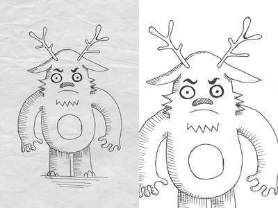 Character sketch 6 children charicature hand drawing pencil commision fiverr horns animal monster character design sketch