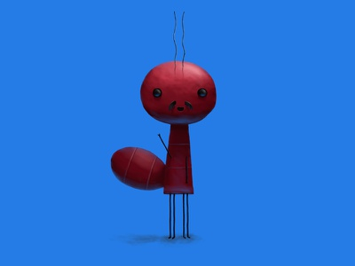 A little ant cute children funny story digitalpainting characterdeisng illustration