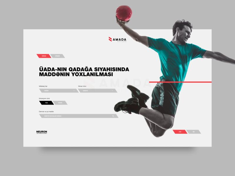 AMADA Medicine List app dashboard fitness sport medicine amada azerbaijan ui