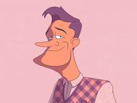 Lover guy motion design cel animation character design frame by frame traditional animation illustration animation 2d