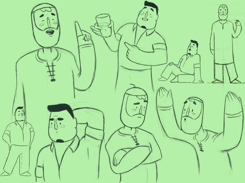 Character searching frame by frame tv paint cartoon toon boom character design gif traditional animation toomboom graphic illustration 2d animation