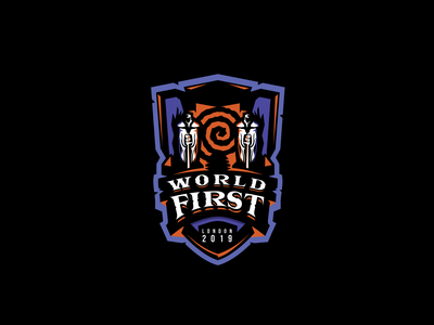 Race to World First. identity team sports warcraft mascot esports redbull branding gaming logo