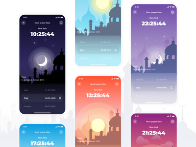 5Prayer - Muslim App mosque zakat names muslims hijri date qibla muslimah prayers prayer muslim user experience ui design user interface ux-ui