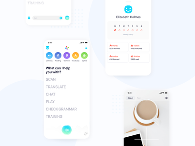 Language Learning App ui user experience design user interface ux-ui ux figma language learn english