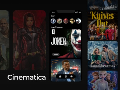 Cinema Ticket App joker movie movie knives out joker concept cinema book booking app mobile booking app user experience userinterface app design designer uiux ui design design app