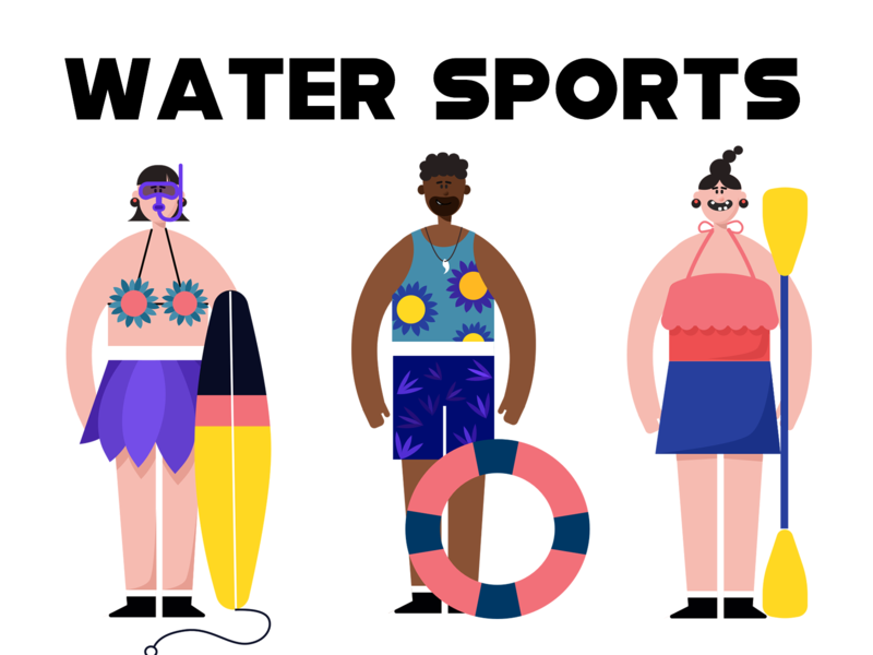 water sport swim sport water blue illustration