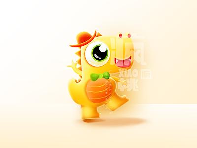 Dinosaur monster dinosaur fashion orange illustration