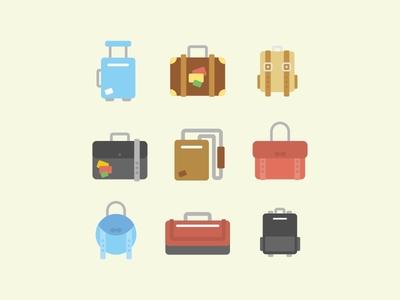 Flat Icon - Travel Bag
