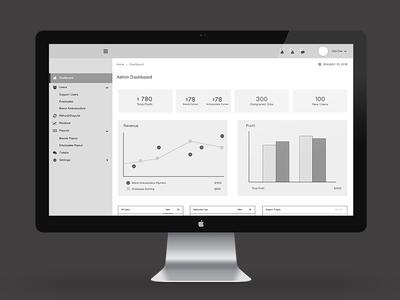 Freelance Job Application - Admin Dashboard