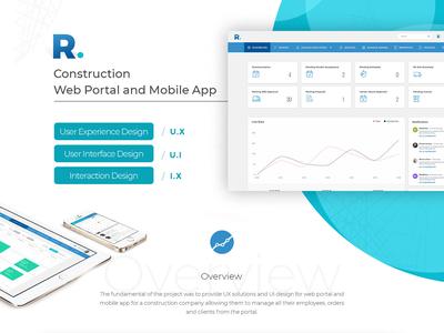 A glimpse of Construction App Mobile & Web Version